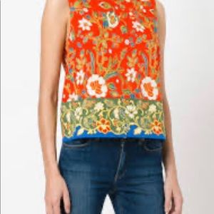 Tory Burch floral blouse size 4